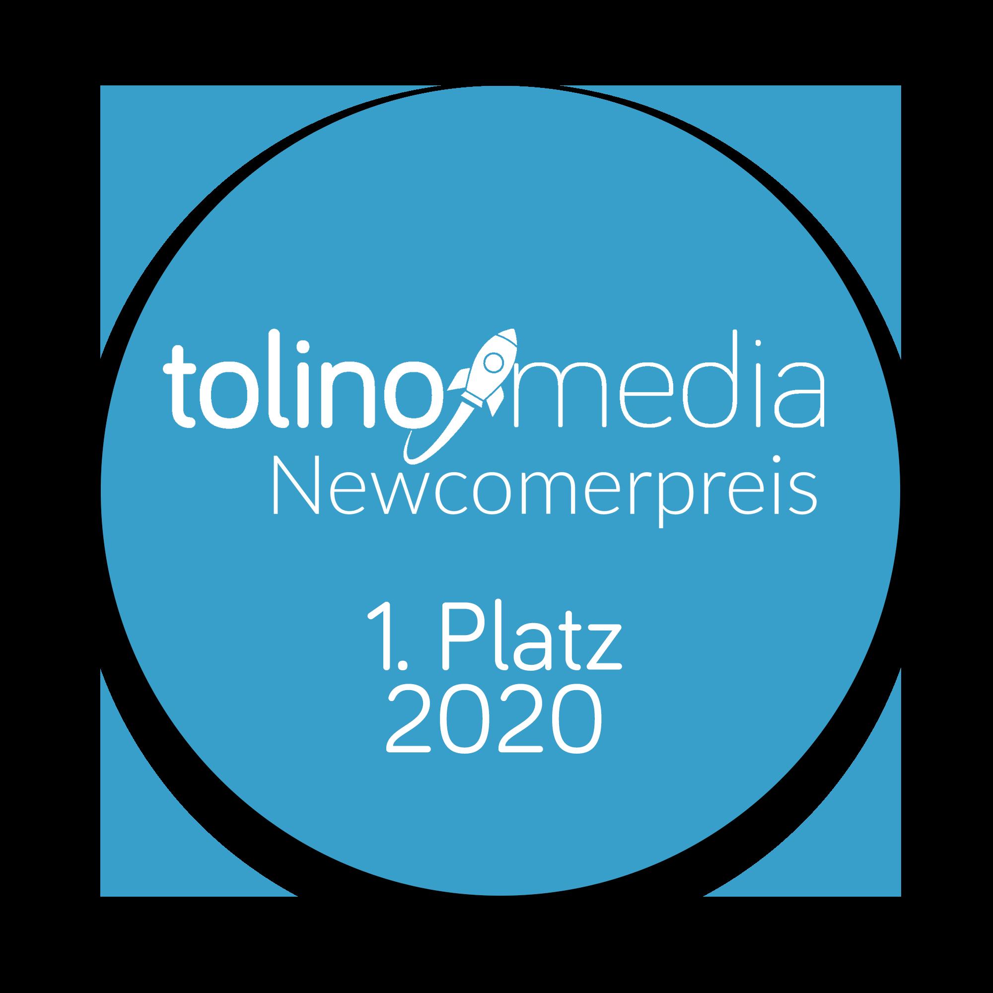 1. Platz beim tolino media Newcomerpreis 2020